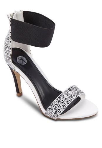 彈性踝帶拉鍊高跟zalora鞋子評價涼鞋, 女鞋, 鞋