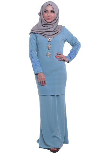 Zahra Baju Kurung from Tulips & Thyme in Blue