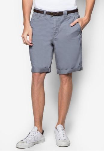 腰帶休閒短褲,esprit台灣 服飾, 短褲