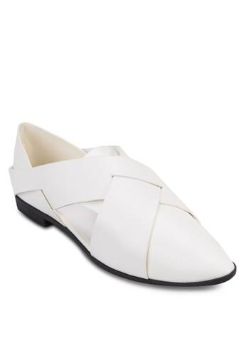 交叉帶時尚低跟zalora 評價鞋, 女鞋, 懶人鞋