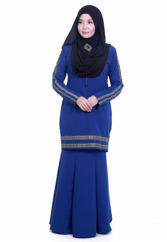 Farosa Kurung Saphira Medium Blue from Farosa in Blue