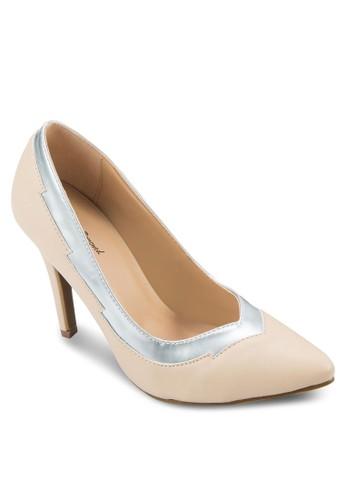 Razor 亮面滾邊尖頭高跟鞋, 女鞋, zalora鞋厚底高跟鞋
