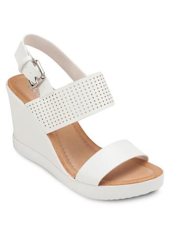 繞踝厚底楔型涼鞋, 女鞋zalora 包包評價, 楔形涼鞋