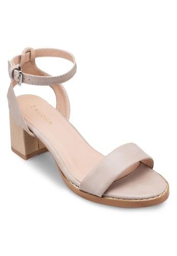 踝帶粗跟涼鞋, 女鞋,zalora 評價 鞋