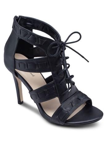 鏤空繫zalora時尚購物網的koumi koumi帶高跟踝靴, 女鞋, 鞋