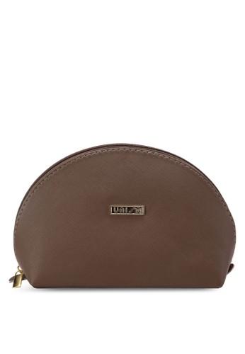 四合一半月型化妝包, 包, 皮zalora 手錶 評價夾及零錢包