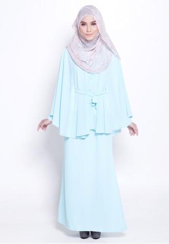 Lamis Kaftan &Mermaid Skirt from Marwa in Green