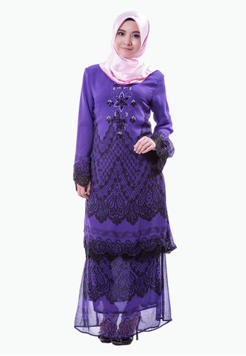 Rasa Sayang Purple Classic Baju Kurung from Rasa Sayang in Purple