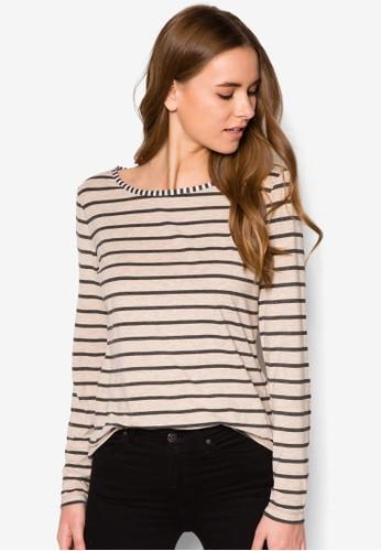 條紋長袖織衫zalora 包包 ptt, 服飾, 服飾