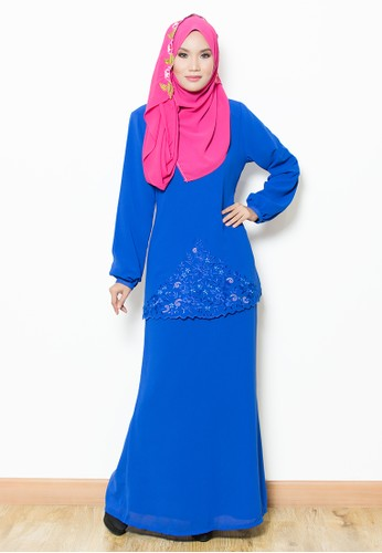 Sandra Kurung Moden - Blue from Yaty's in Blue