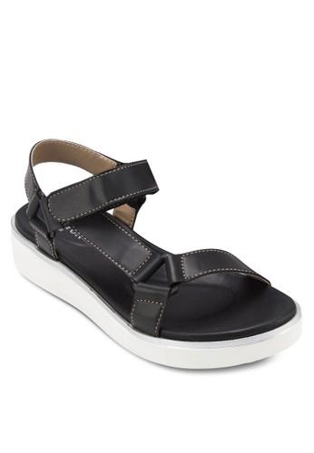時尚zalora taiwan 時尚購物網踝帶厚底涼鞋, 女鞋, 鞋