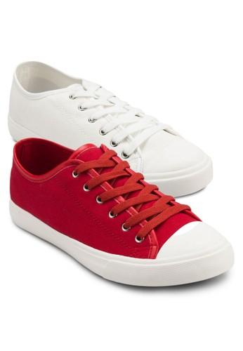 二入組帆布繫帶運動鞋, zalora 折扣碼鞋, 休閒鞋