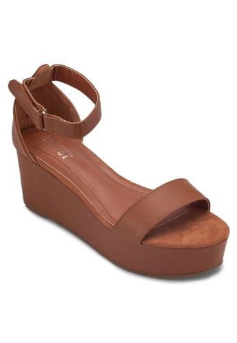 Victoria 厚底包跟涼鞋, 女鞋, 楔zalora開箱形涼鞋