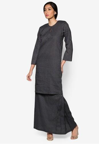 Baju Kurung Sharmila from Butik Sireh Pinang in Black