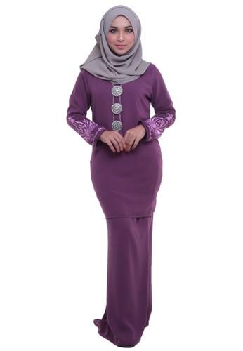 Zahra Baju Kurung from Tulips & Thyme in Purple