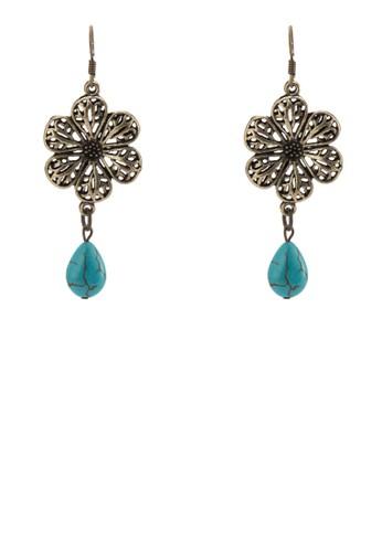 BUNGA 雕花墜飾耳環, 飾品配件, 飾zalora鞋品配件