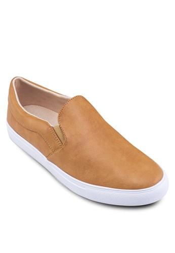 素色仿皮zalora taiwan 時尚購物網鞋子懶人鞋, 鞋, 懶人鞋