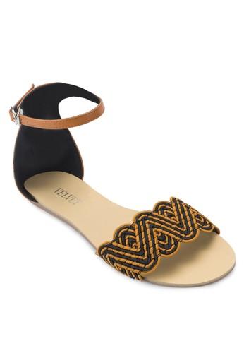 Talia 民族風寬帶涼zalora 手錶 評價鞋, 女鞋, 涼鞋