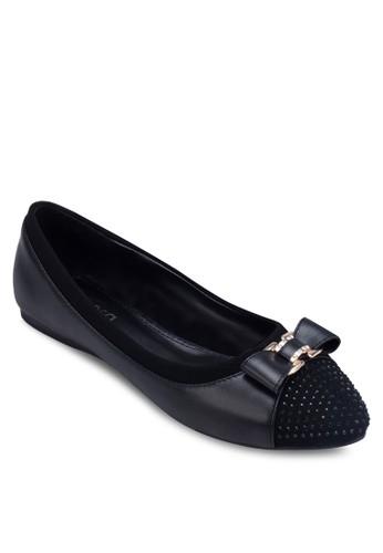 閃zalora開箱飾尖頭蝴蝶結平底鞋, 女鞋, 芭蕾平底鞋