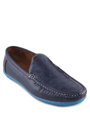 壓花皮革樂福鞋zalora時尚購物網評價, 鞋, 男鞋