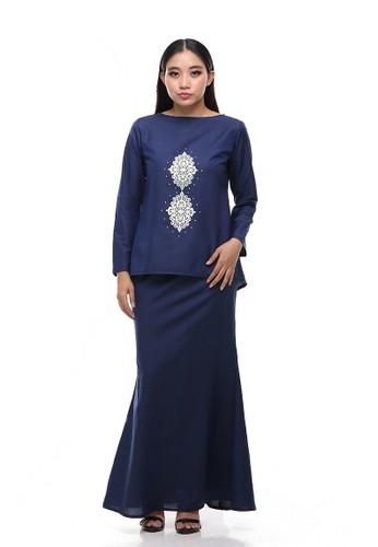 Suri Modern Kurung from Secretcode in Blue