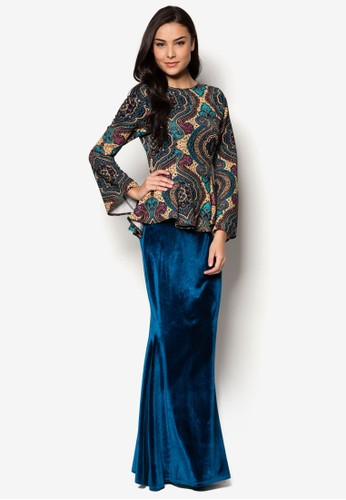 Rania Midi Kurung from Zuco Fashion in Green