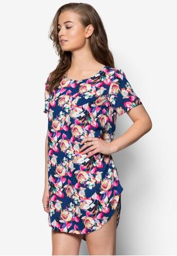 花卉印花棉質連身裙, 服飾,zalora 包包 ptt 洋裝