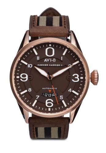 Hawkerzalora 包包評價 Harrier II 皮革腕錶, 錶類, 錶類