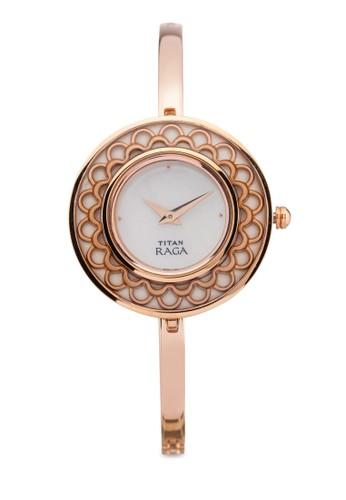 Titan  2530WM01 雙指針時尚細鏈飾大圓錶, 錶類zalora 台灣, 時尚型