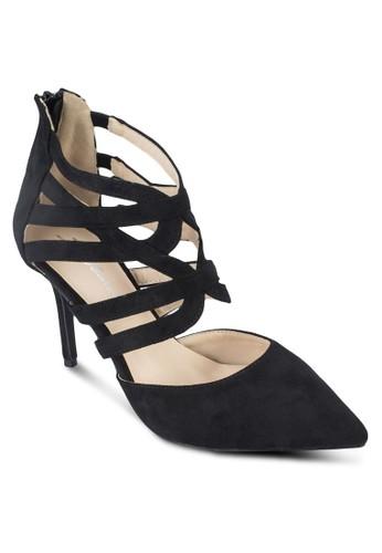 交叉帶尖頭zalora 評價高跟鞋, 女鞋, 鞋