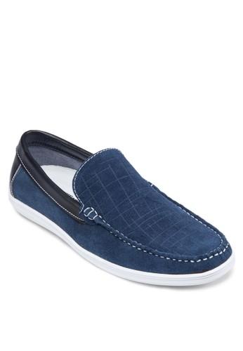 皮革拼接樂福鞋,zalora 評價 鞋, 船型鞋
