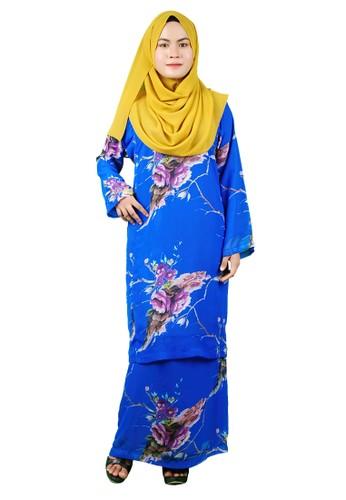 Baju Kurung Pesak from Delimamoda in Blue
