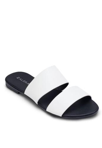 金屬感雙帶zalora時尚購物網的koumi koumi拖鞋, 女鞋, 涼鞋