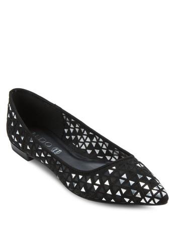 Portanova aldo價位亮面雕花尖頭平底鞋, 女鞋, 芭蕾平底鞋