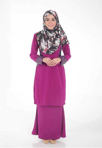 Arianna Modern Kurung from Saqma Boutique in Purple
