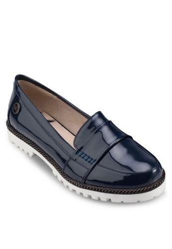 漆皮踝zalora鞋帶厚底涼鞋, 女鞋, 懶人鞋