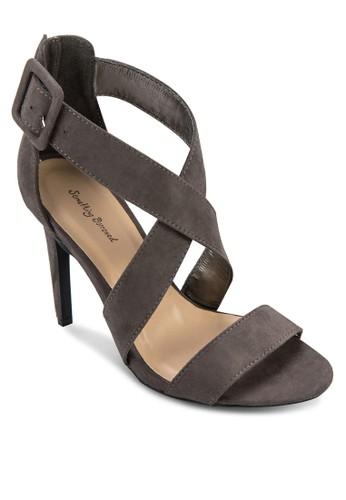 Crossover Strap Open Toe Heel, 女鞋,zalora時尚購物網評價 高跟
