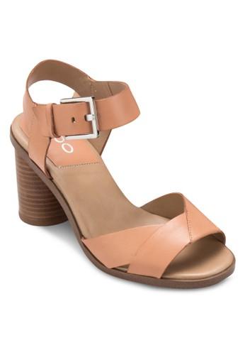 Ponticino aldo 皮鞋粗跟涼鞋, 女鞋, 細帶高跟鞋