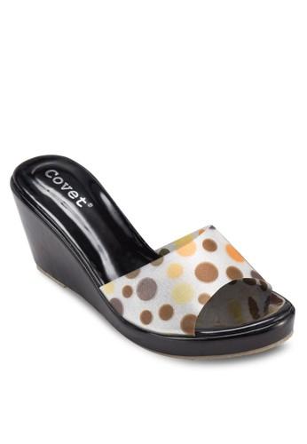 點點印花楔形涼鞋, 女鞋zalora 評價, 楔形涼鞋