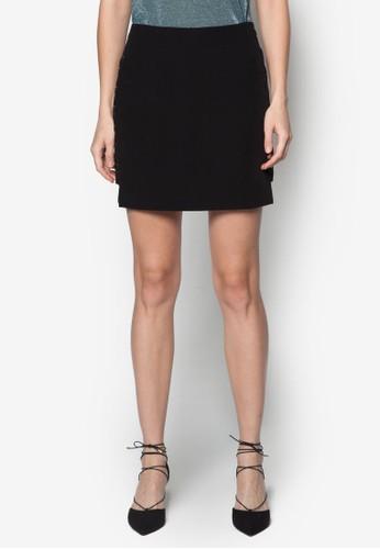扣環帶裝飾短裙, 服飾, 迷你topshop 香港裙