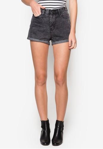 褪色水洗丹寧短褲, 服飾, zalora 鞋評價短褲