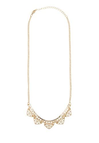 幾何zalora 衣服尺寸鏤空項鍊, 飾品配件, 項鍊