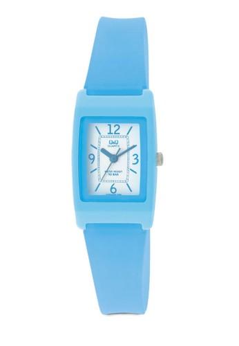 Q&zalora 心得Q 方框樹脂指針手錶, 錶類, 其它錶帶