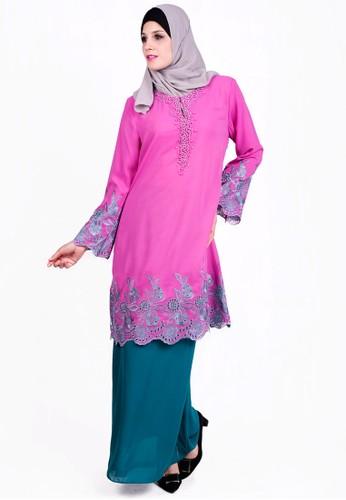 Baju Kurung With Bead from ESPRIMA in Pink