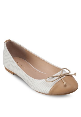 拼色圓頭仿皮平底鞋, 女鞋, 芭蕾平zalora 鞋評價底鞋
