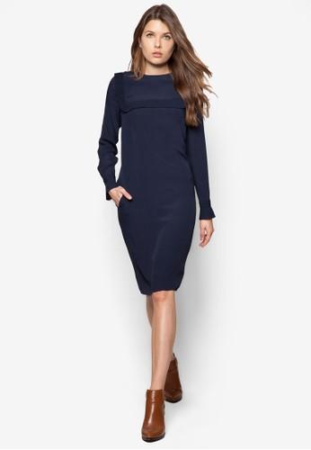 水手風長袖zalora 男鞋 評價連身裙, 服飾, 正式洋裝