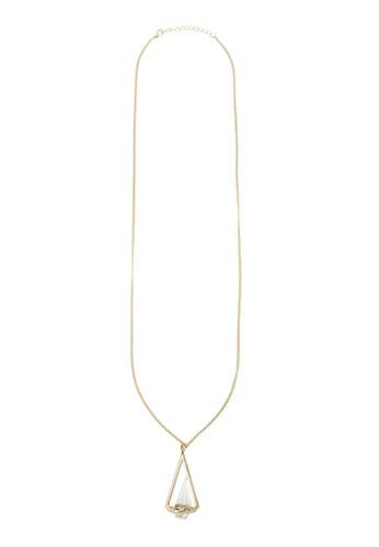 三zalora 內衣角錐水晶項鍊, 飾品配件, 項鍊