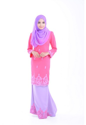 Maribeli Butik Damica Kurung –  DEEP Pink LAVENDER from Maribeli Butik in Pink and Purple