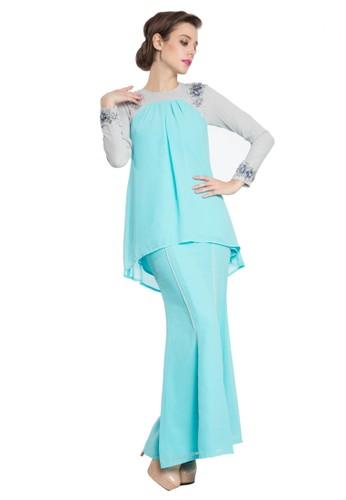 Falisha Kurung Modern from Rina Nichie in Blue