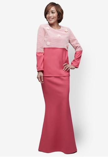 Emel x Serena C Arctica Modern Kurung from Emel by Melinda Looi in Pink